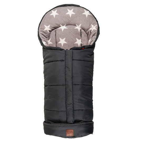 Fleece Footmuff Jooy - Star Print - Black