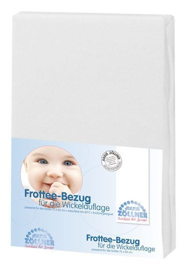 Terry cloth cover for changing mat - white