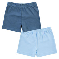 Shorts 2er Pack Little Adventurer - Hellblau Dunkelblau - Gr. 74/80