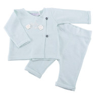 2-tlg. Set Wickelshirt + Hose - Mint