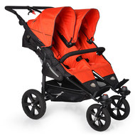 Geschwister- & Zwillingskinderwagen Twin Trail - Orange.com