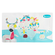 Bathtub mat with temperature display - Mountain animals