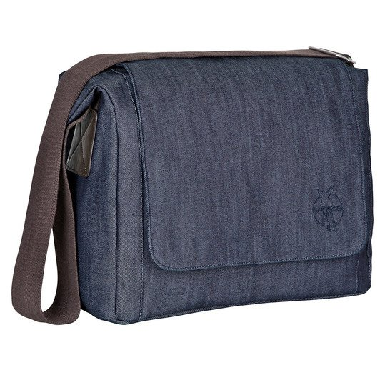 Wickeltasche Green Label Small Messenger Bag Update - Denim Blue
