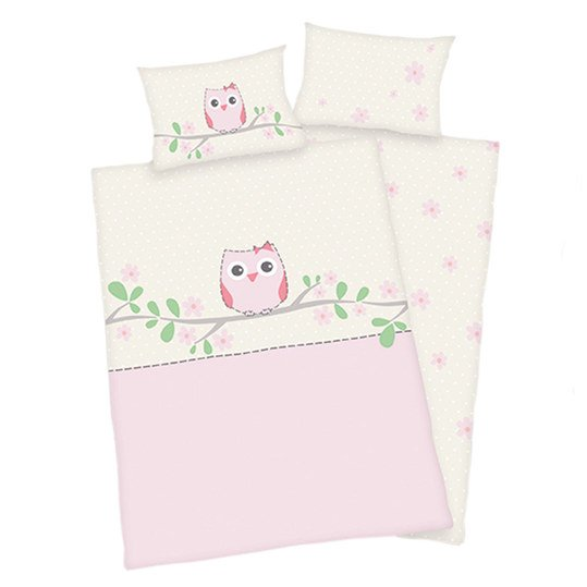 Reversible bed linen 100 x 135 cm - Sweet owl