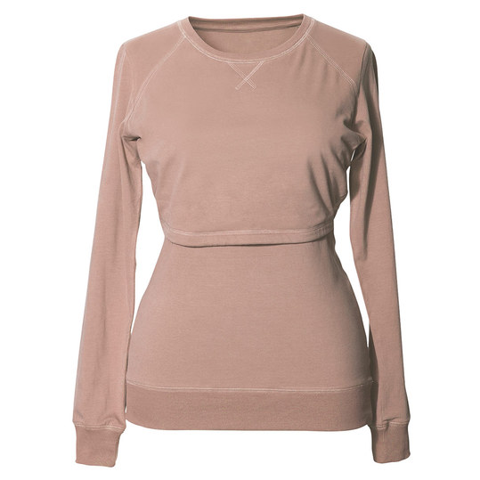 Sweatshirt B.Warmer mit Stillfunktion - Beige - Gr. M