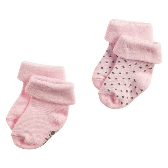 Socken 2er Pack Noisia - Rosa - Gr. 0 - 3 Monate