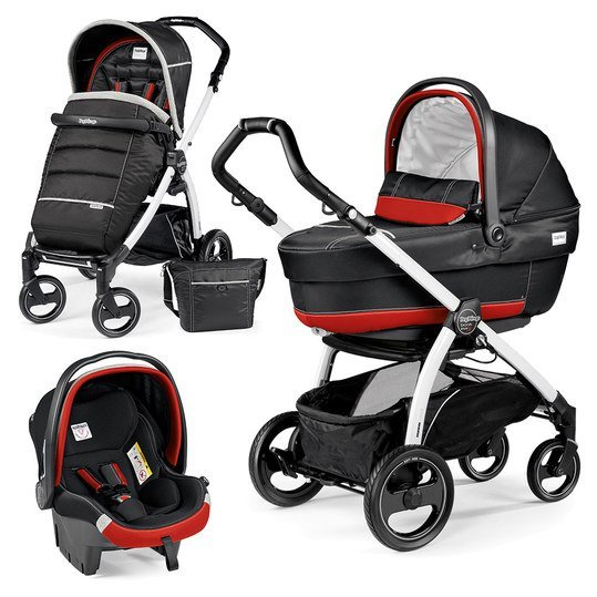 Kinderwagen-Set Book Plus S XL Completo Modular Gestell Weiß - Synergy