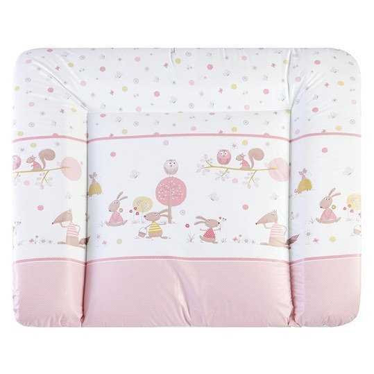 Folien-Wickelauflage Softy - Happy Animals Rosa