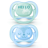 Schnuller 2er Pack Ultra Air - Silikon 0-6 M - Hello Baby