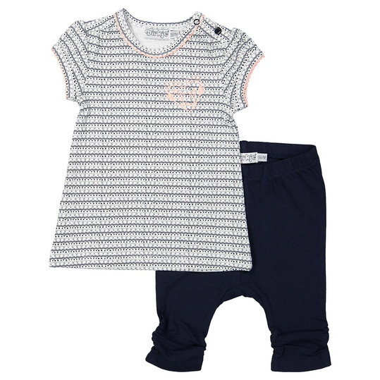 2 tlg. Set Kleid + Leggings Love - Herzen Dunkelblau - Gr. 74