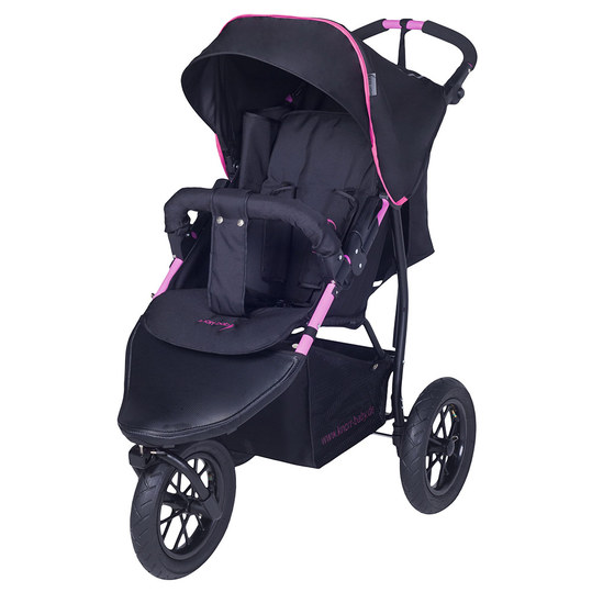 Sports car Joggy S with slumber top - Black Fuchsia