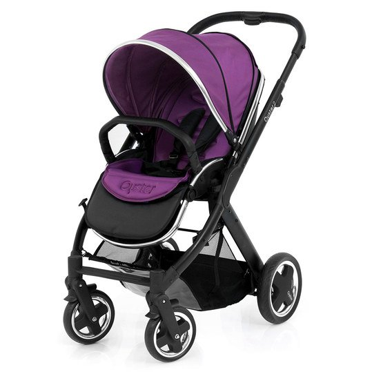 Sportwagen Oyster 2 Gestell Schwarz - Grape