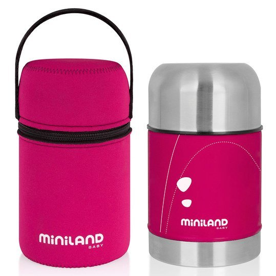miniland edelstahl isolierbox neopren tasche soft thermo food 600 ml pink. Black Bedroom Furniture Sets. Home Design Ideas