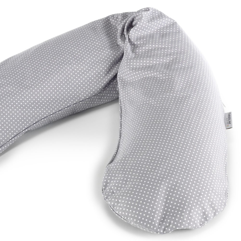 Cover for nursing pillow The original - dots grey