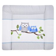 Foil changing mat Softy - Small owls blue