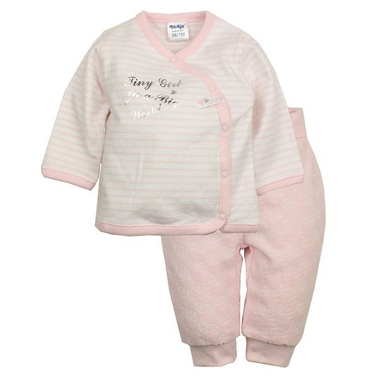 2-tlg. Set Wickelshirt + Hose - Tiny Girl - Rosa - Gr. 68