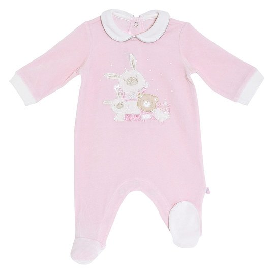Nicki-Overall Hase & Friends - Rosa - Gr. 68