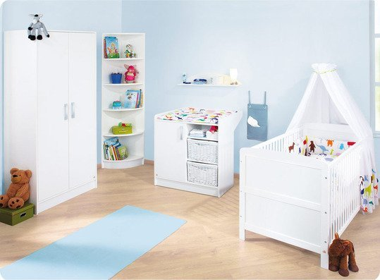 pinolino kinderzimmer viktoria mit schmaler wickelkommode. Black Bedroom Furniture Sets. Home Design Ideas
