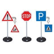 3-tlg. Set Verkehrsschilder Traffic-Signs
