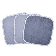 Towel pack of 3 30 x 30 cm - Grey Light grey