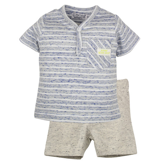2-tlg. Set T-Shirt + Shorts - Surf Workshop Blau - Gr. 86
