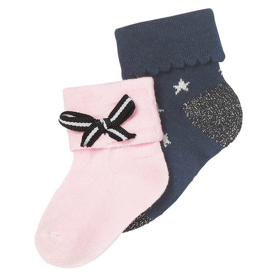 Socken 2er Pack Berkeley - Rosa - Gr. 3 - 6 Monate