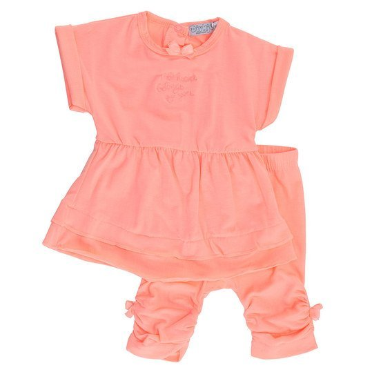 2-tlg. Set Kleid + Leggings - My Heart - Peach - Gr. 80