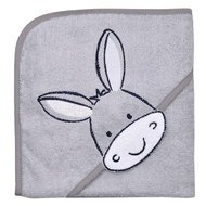 Hooded bath towel 80 x 80 cm - Donkey light grey