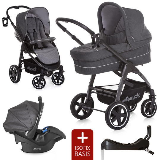 Kinderwagen-Set Soul Plus Trio Set inkl. Isofix Basis - Beluga
