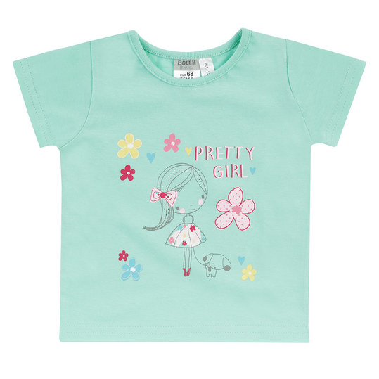 T-Shirt Basic Line - Pretty Girl Mint - Gr. 74