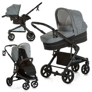 Kinderwagen-Set Atlantic Plus Trio Set - Melange Grey Caviar