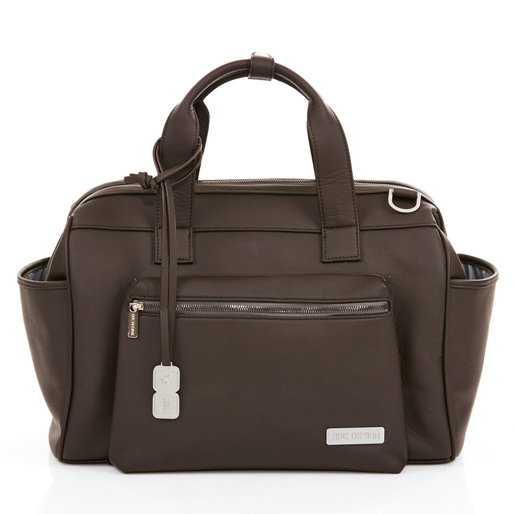 Changing Bag Style - incl. changing mat, bottle warmer and utensil bag - Dark Brown