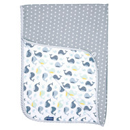 reversible blanket 75 x 100 cm - Wally Whale