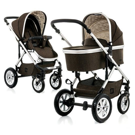 Kombi-Kinderwagen Nuova City - Brown Melange