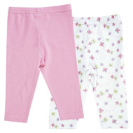 Leggings 2er Pack - Blume Rosa Weiß
