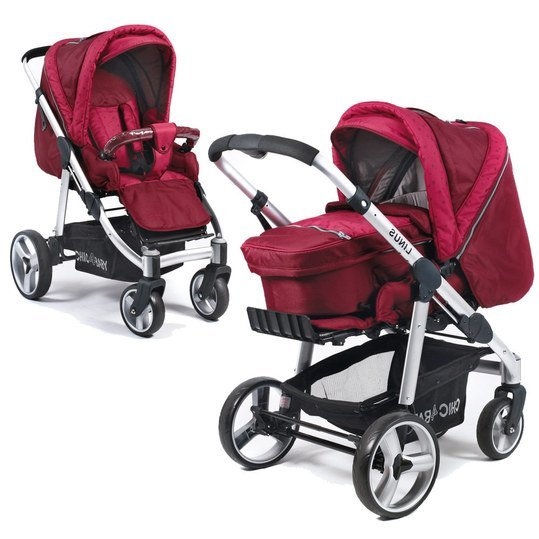 Kombi-Kinderwagen Linus - Starlight Ruby Red