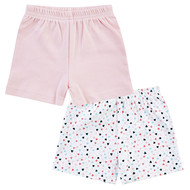 Shorts 2er Pack My Princess - Rosa Weiß - Gr. 50/56