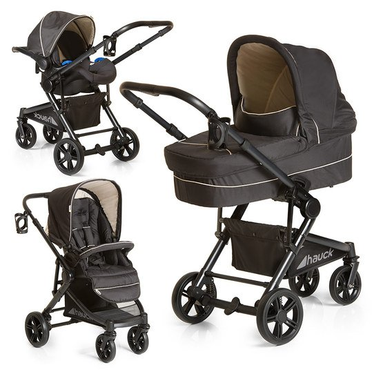 Kinderwagen-Set Atlantic Plus Trio Set - Caviar