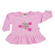 Langarmshirt Little Bug - Rosa - Gr. 62