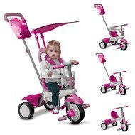 Dreirad Joy 4 in 1 mit Touch Steering - Pink