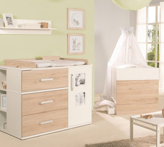roba sparset kinderzimmer pepe mit bett breiter wickelkommode. Black Bedroom Furniture Sets. Home Design Ideas