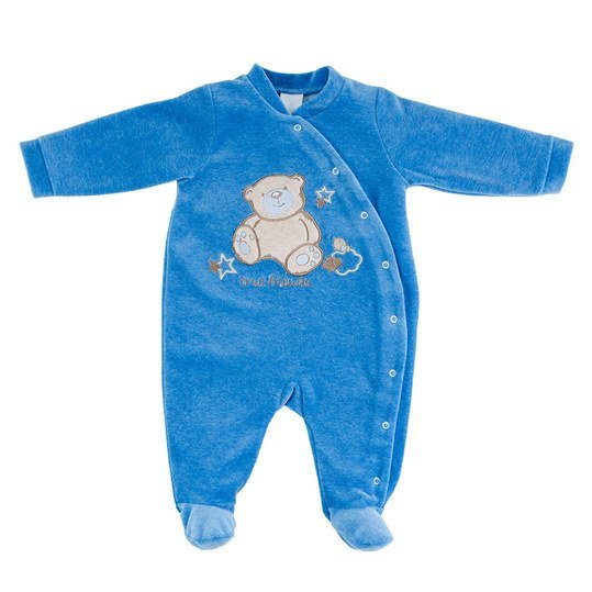 Nicki-Overall Sweet Bear - Blau - Gr. 68