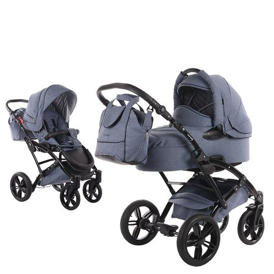 Kombi-Kinderwagen Voletto Emotion - Light Blue