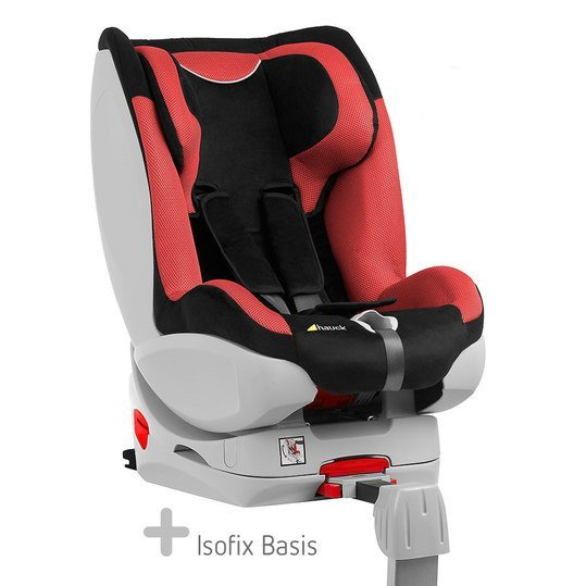 Reboard-Kindersitz Varioguard inkl. Isofix-Basis - Black Red