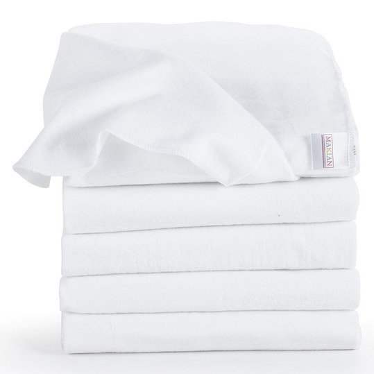 Molton cloth pack of 5 80 x 80 - white
