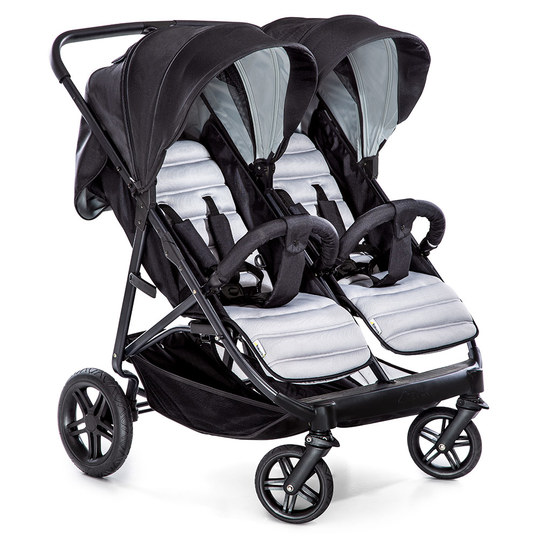 Geschwisterbuggy & Zwillingsbuggy Rapid 3R Duo - Silver Charcoal