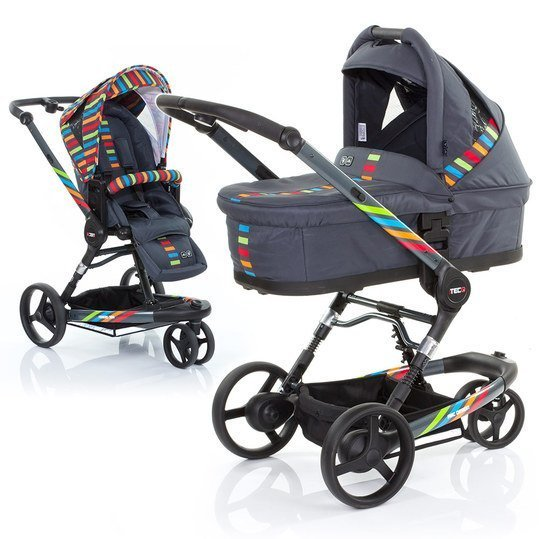 Kombi-Kinderwagen 3 Tec PLUS - Rainbow inkl. Tragewanne PLUS Rainbow
