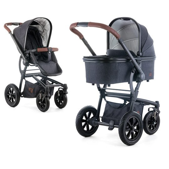 Kombi-Kinderwagen Tregg - Black Denim