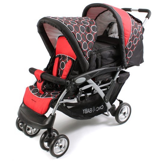 Geschwisterwagen Duo - Orbit Red