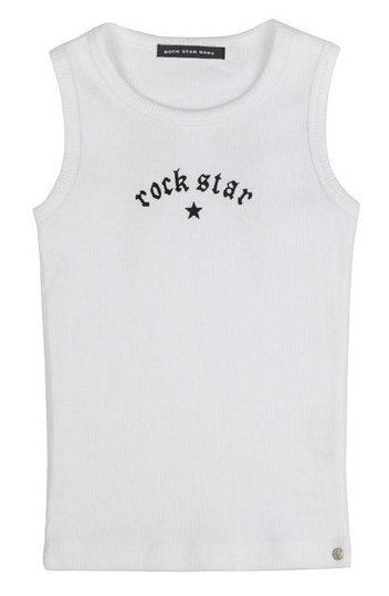 Rippshirt Rock Star Wings - Weiß - Gr. XS